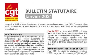 Syndicat AIA Clermont Ferrand : Bulletin Statutaire