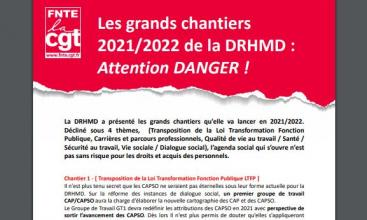 Les grands chantiers de la DRHMD - Attention DANGER !